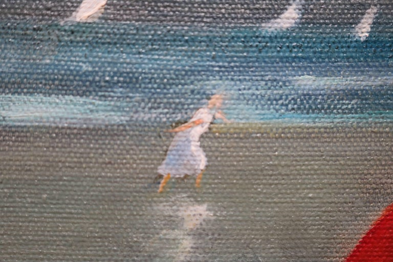 Nuns by the Shore Oil Painting For Sale 1