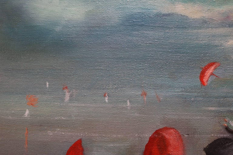Nuns by the Shore Oil Painting For Sale 2