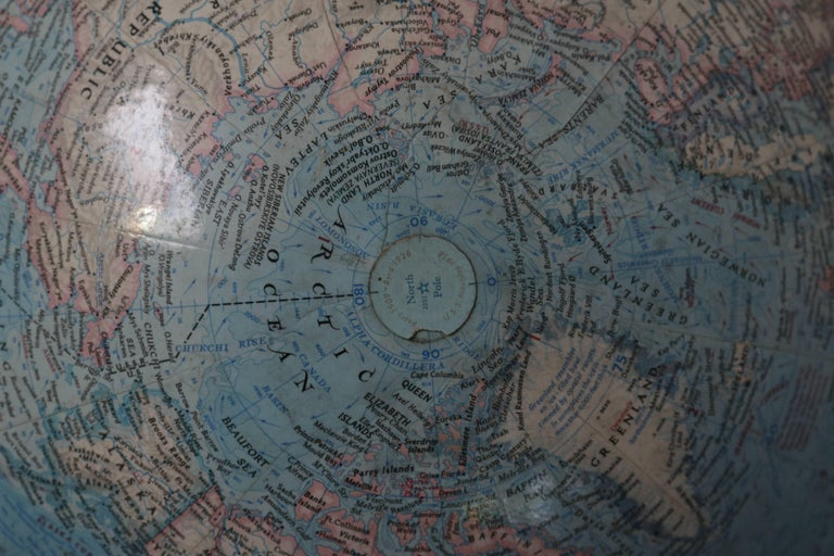 1970s National Geographic Society Globe On Brass Stand For Sale At 1stdibs