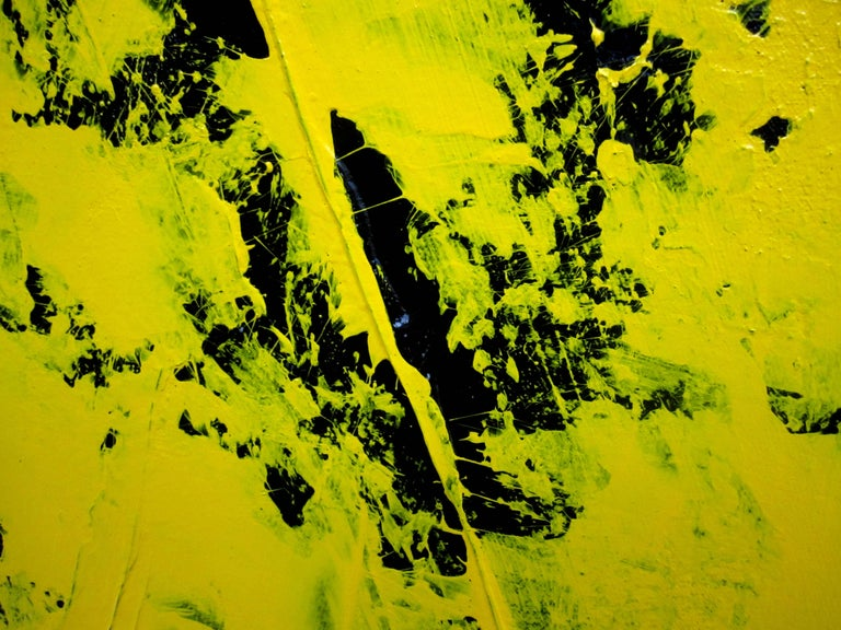 Yellow, Black and Silver Painting