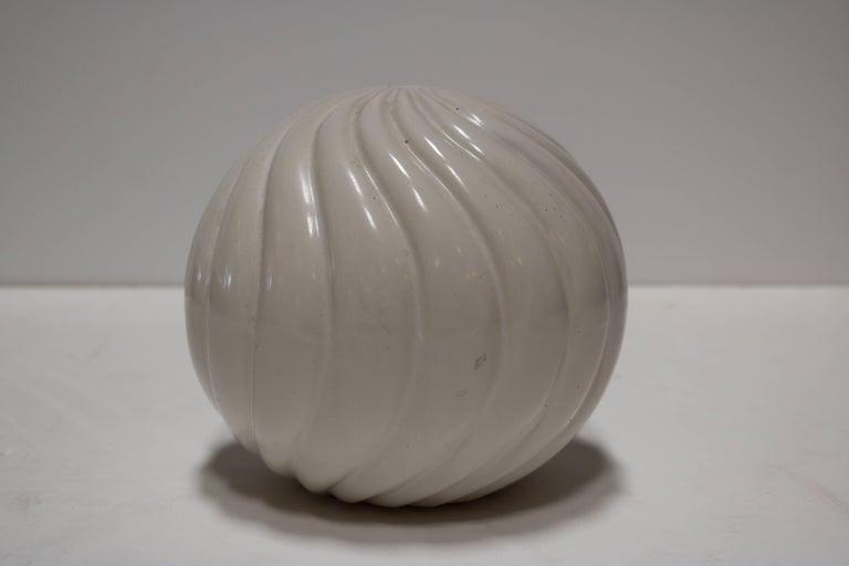Cream Ceramic Decorative Balls At 1stdibs