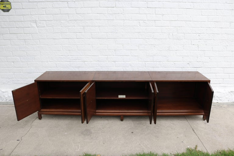 American Enzo Rutili for Johnson Furniture Impressive Credenza For Sale