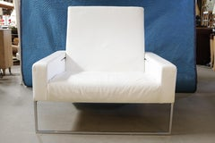 Italian Leather Lounge Chair or Ottoman by Nube