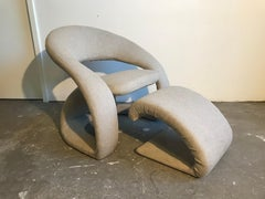 Midcentury Chair and Ottoman