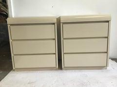 Pair of 1980s Formica Nightstands
