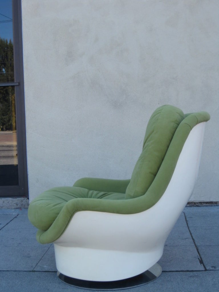 Mid-Century Modern Italian Midcentury Swivel Chair by Cesare Casati & Enzo Hybsch For Sale