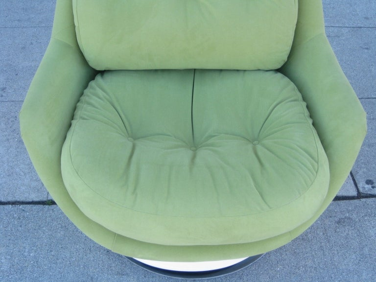 Mid-20th Century Italian Midcentury Swivel Chair by Cesare Casati & Enzo Hybsch For Sale