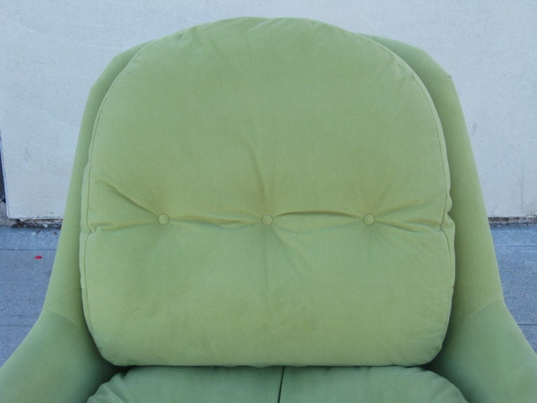 Upholstery Italian Midcentury Swivel Chair by Cesare Casati & Enzo Hybsch For Sale