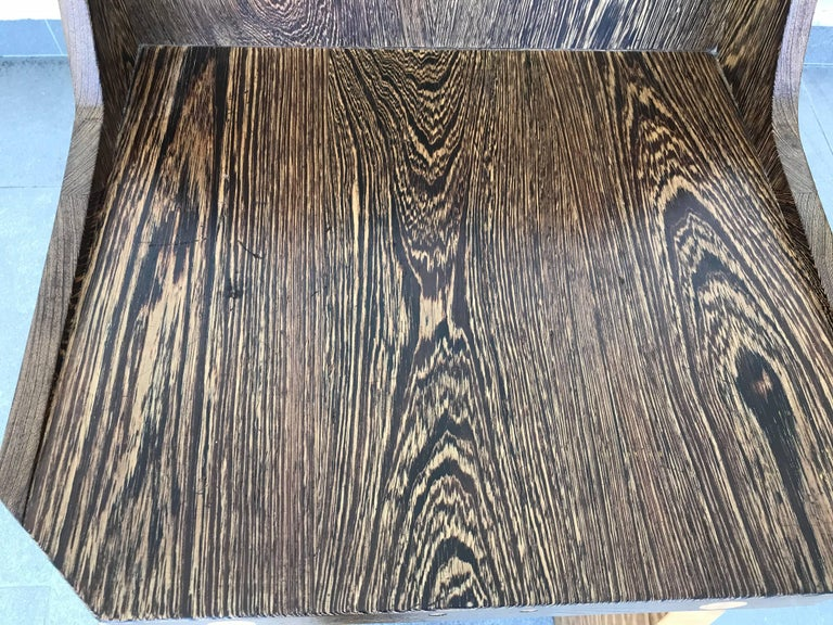 Butterfly Solid Wenge and Zebra Wood Chair For Sale 1
