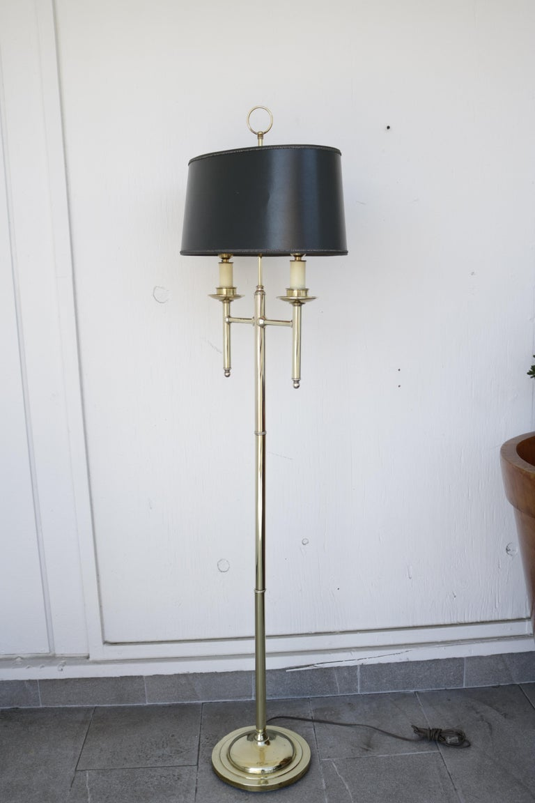 Mid-20th Century 1960s French Floor Lamp in Brass For Sale