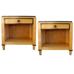 Pair of Two-Tone Wooden Side Tables by Kimball Hospitality