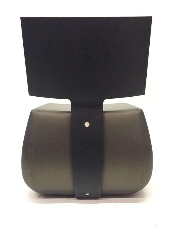 architectural slipper chair by pascal mourgue for cinna. Black Bedroom Furniture Sets. Home Design Ideas