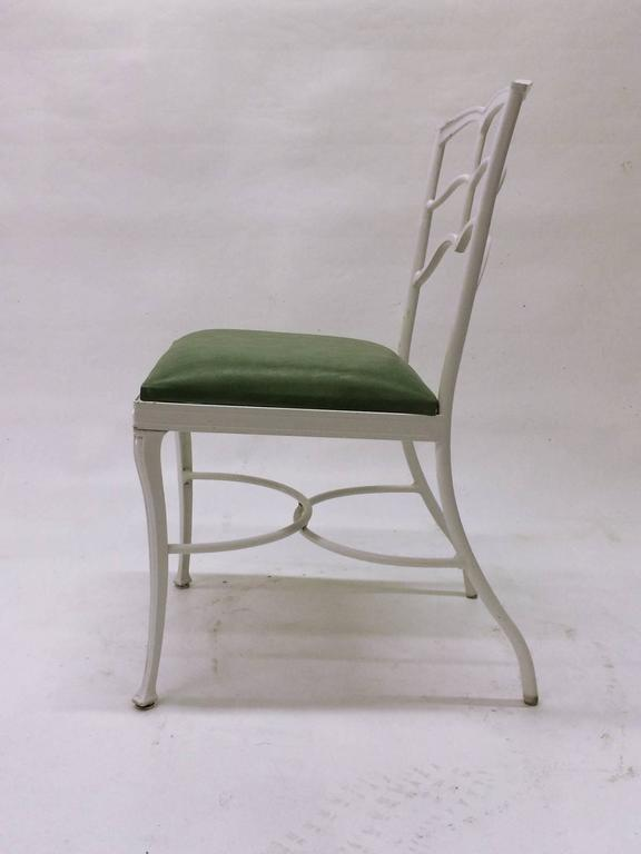 Mid-Century Modern Set of Four Outdoor Chairs For Sale