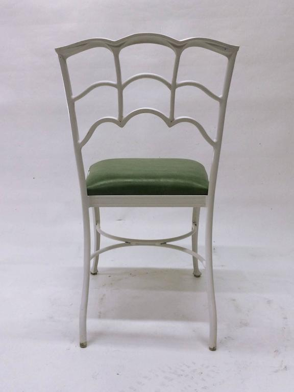 Set of Four Outdoor Chairs In Excellent Condition For Sale In Los Angeles, CA