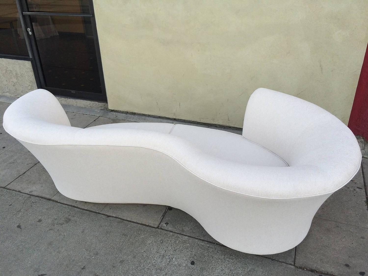 Hollywood Regency Sofa Chaise at 1stdibs