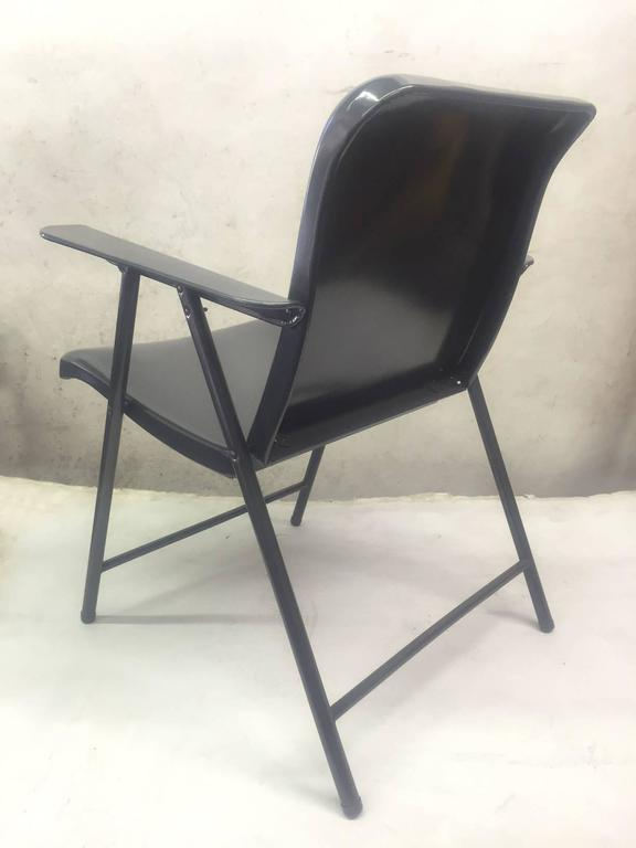American Set of Three Folding Metal Chairs by Russel Wright For Sale