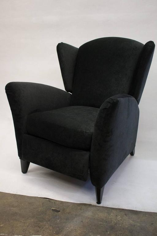 Mid Century Reclining Wingback Chair at 1stdibs