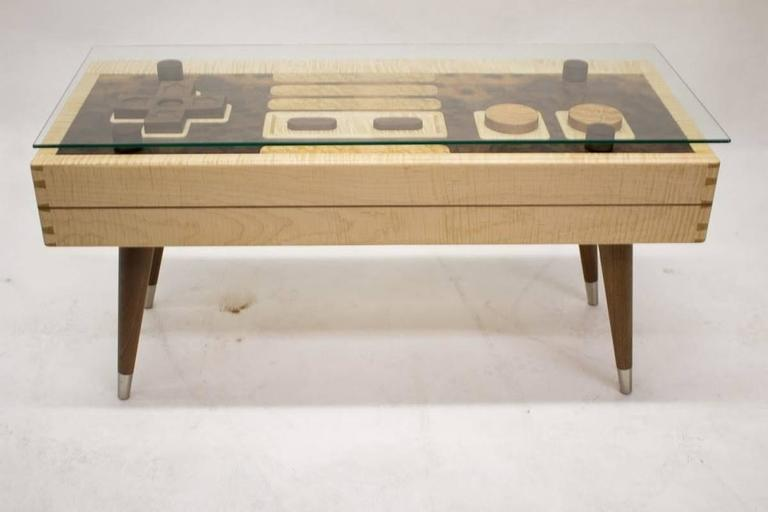 Handcrafted Nintendo Video Game Controller Low Rectangular Wooden Coffee Table At 1stdibs