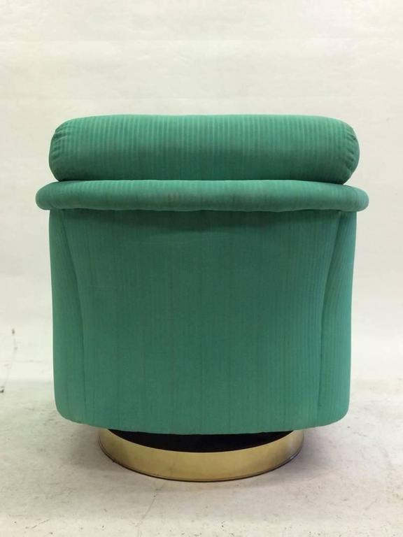 Modern Milo Baughman Swivel Chair For Sale