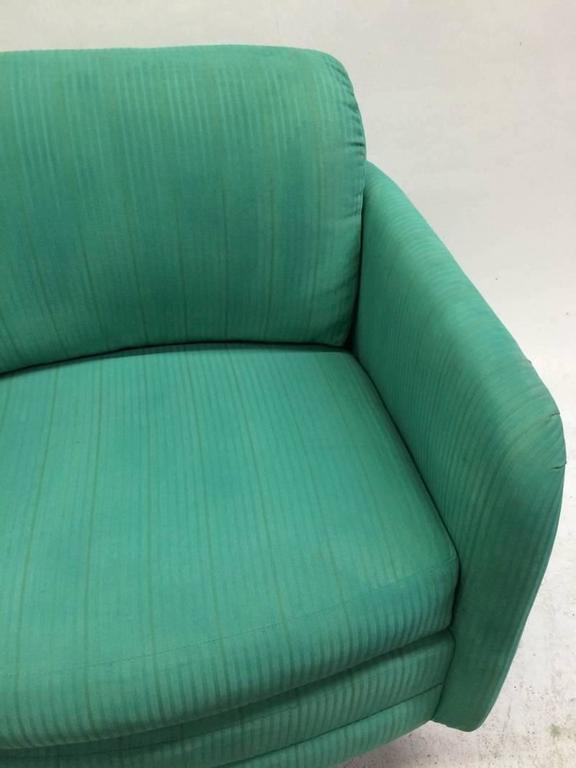 American Milo Baughman Swivel Chair For Sale
