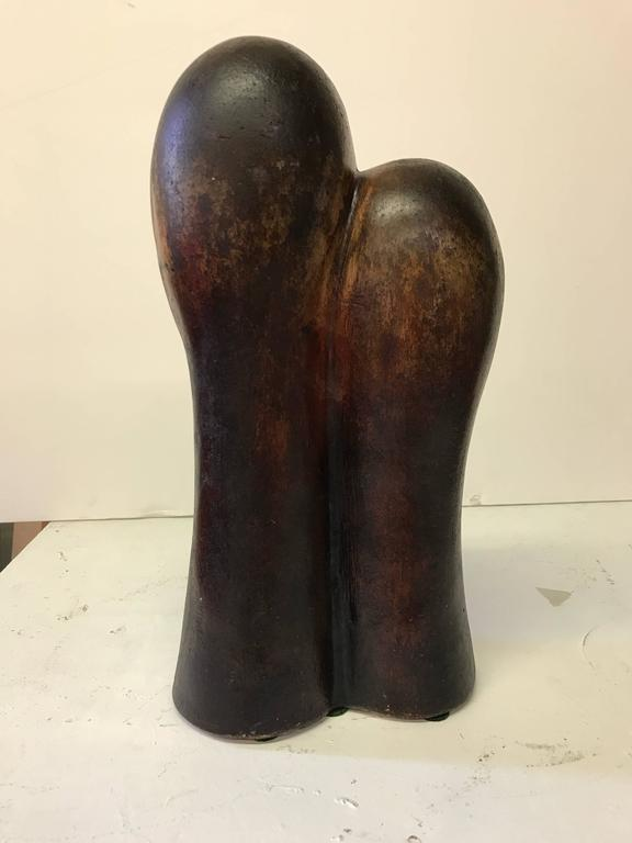 Figurative Terracotta Sculpture of Family For Sale 1