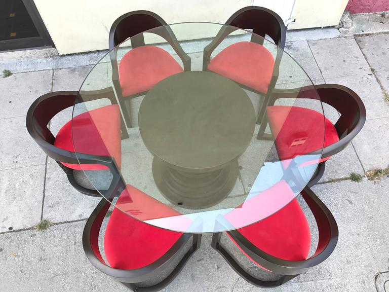 Stunning Dining Set in the style of Karl Springer 2