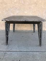 Square Extendable Table on the Style of Jean Prouve