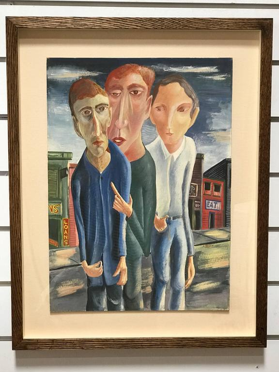 Prolific artist David Segel created work in oils, watercolor, bronze and wood sculptures and dramatic sketches. He was trained under Fernand Leger among others and has been collected by Stevie Nicks and Barbra Streisand as well as the Whitney