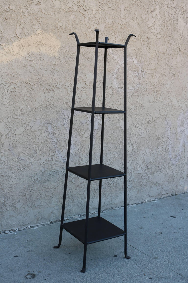 Black Metal Etagere with Graduated Shelves 2