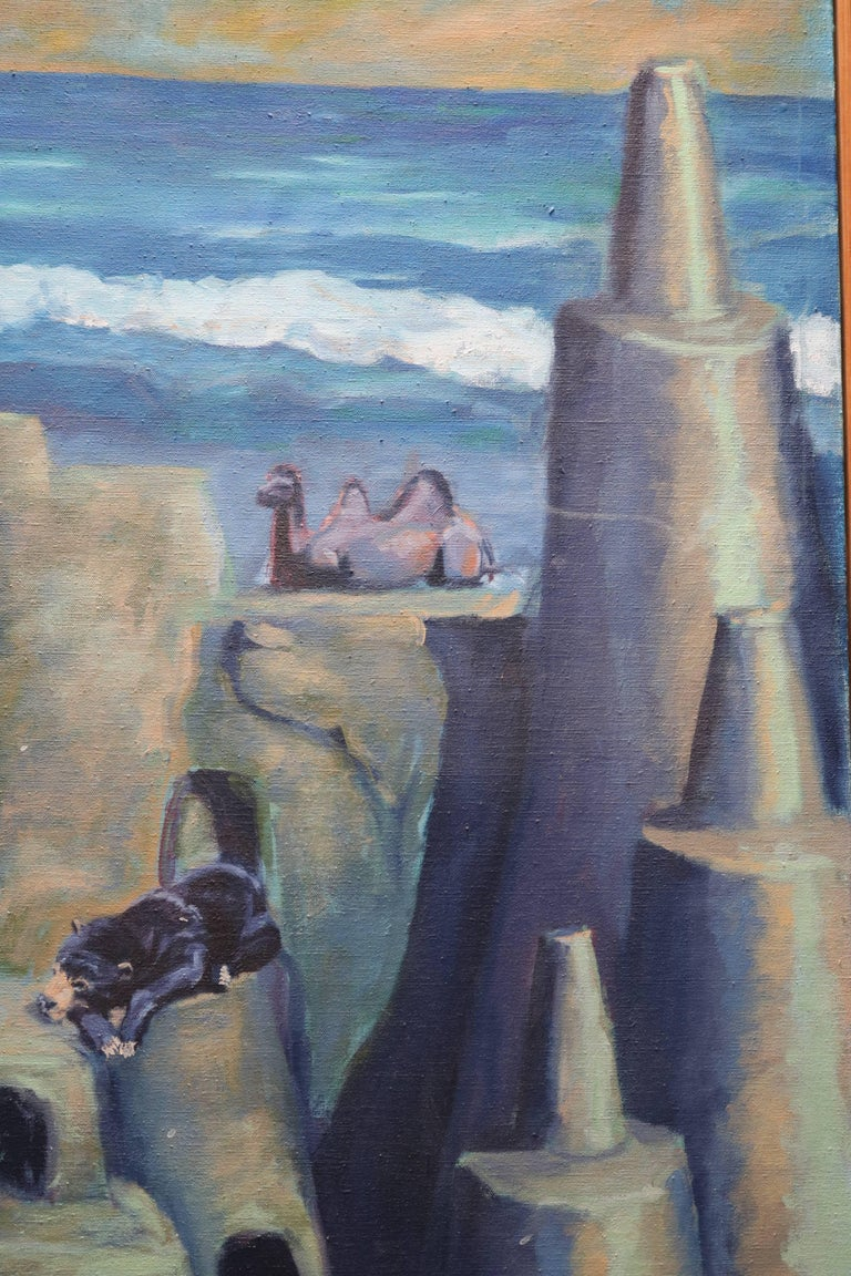 Surrealist Sandcastle Painting by Greg Lupton 4