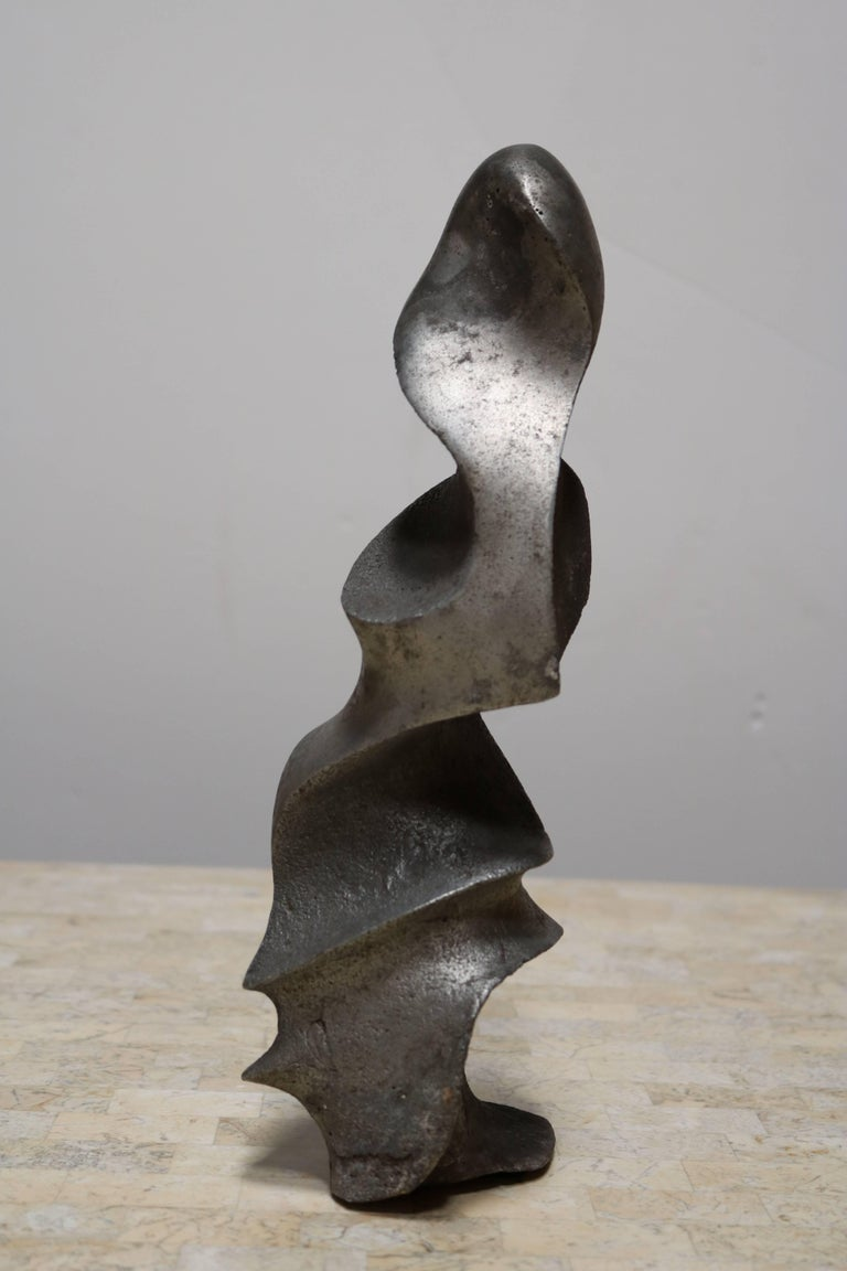 Strong and Expressive Abstract Lead Sculpture 2