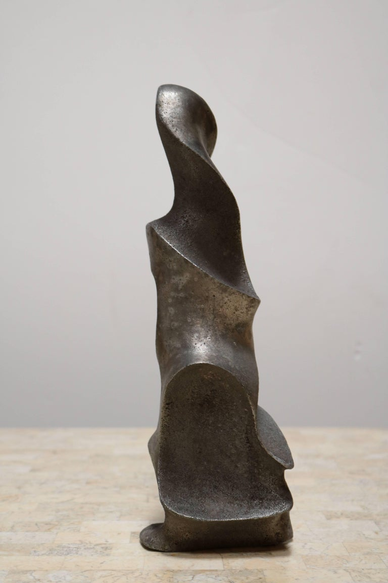 Strong and Expressive Abstract Lead Sculpture 6
