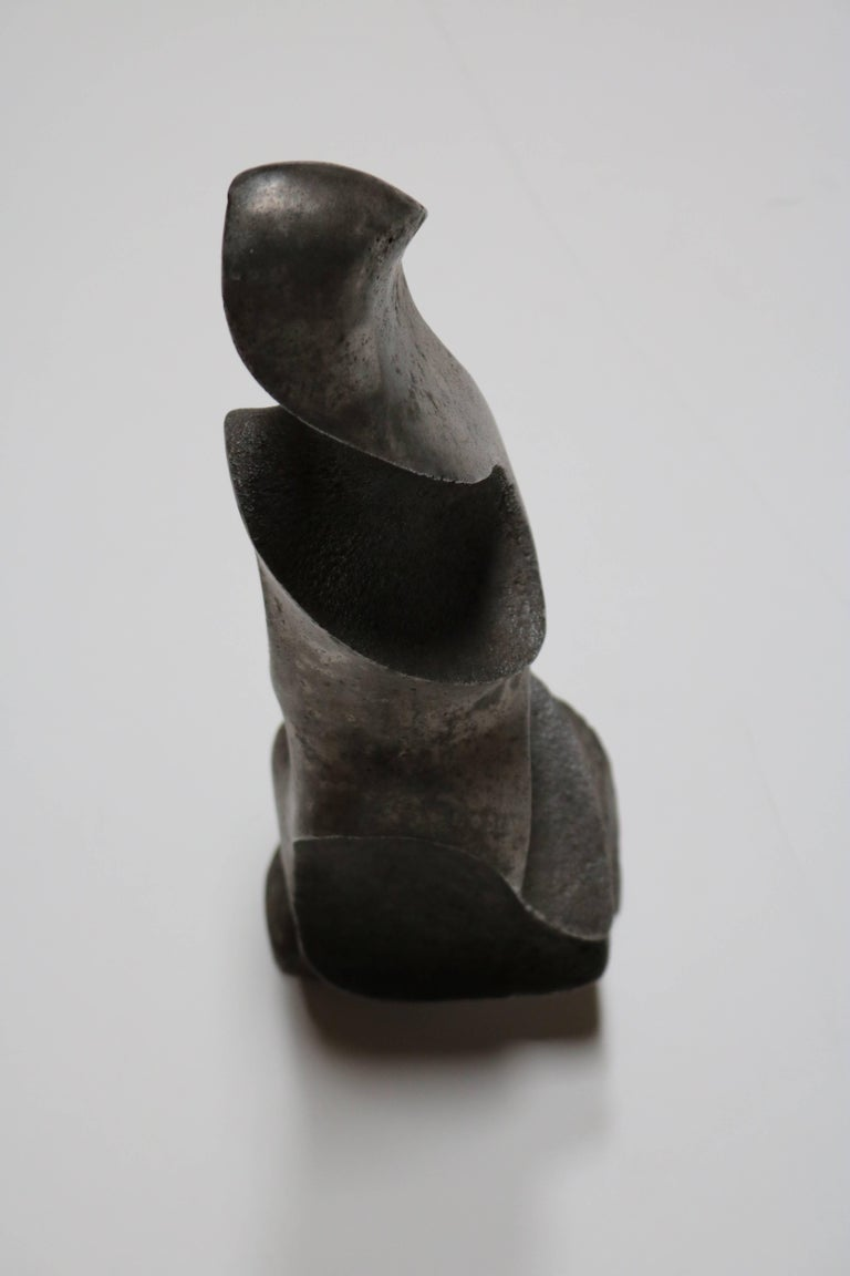 Strong and Expressive Abstract Lead Sculpture 5