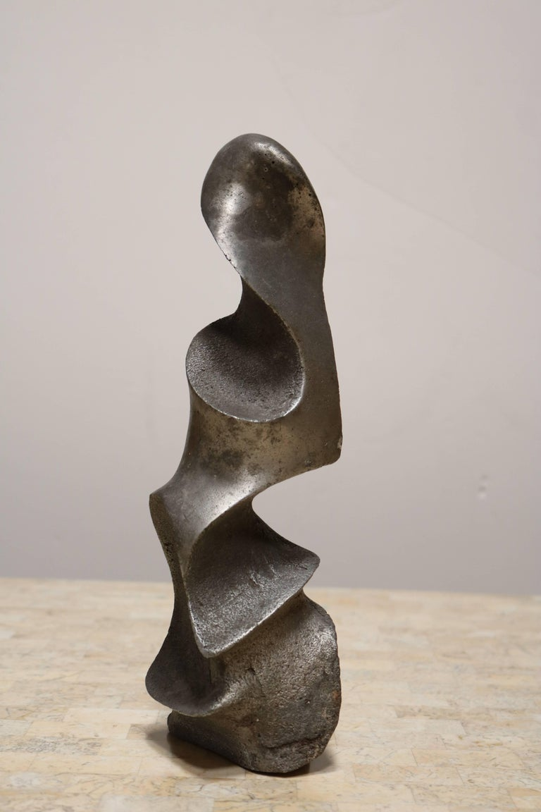 Strong and Expressive Abstract Lead Sculpture 7