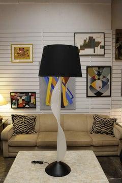 Undulating Resin Floor Lamp by Rougier