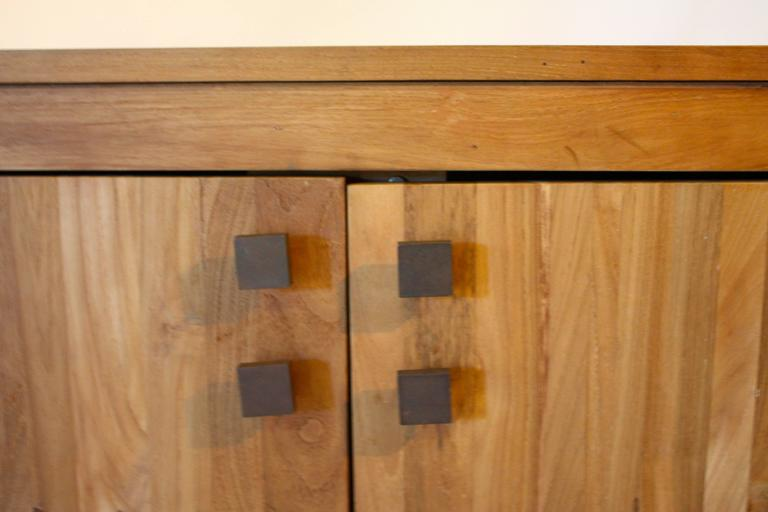 Contemporary Cypress Wood Cabinet For Sale