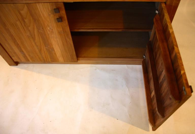 Cypress wood cabinet. Sleek, beautiful lines.