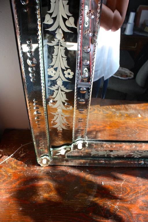 Late 20th Century Venetian Floor Mirror For Sale