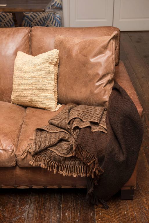 Vintage Ralph Lauren Leather Sofa At 1stdibs