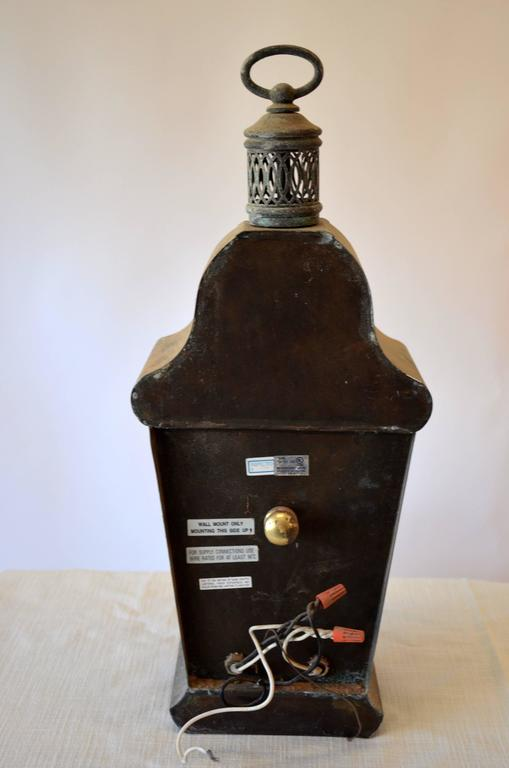 Zinc Carriage Lantern In Good Condition For Sale In Southampton, NY
