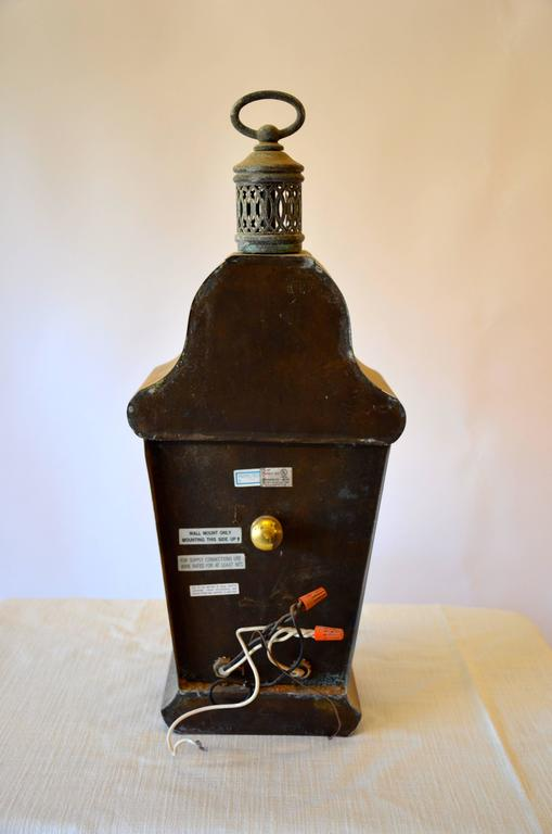 Zinc Carriage Lantern For Sale 1