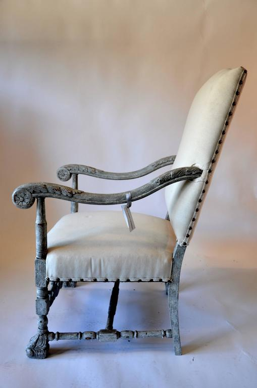 Gustavian finish, exquisite carvings and nailhead detail.