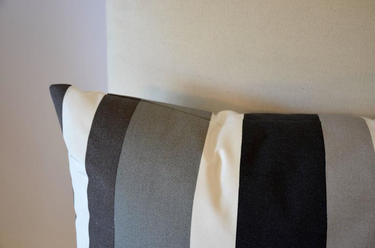 Modern Family Pillow Stripe : Modern Awning Stripe Pillow For Sale at 1stdibs