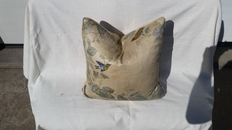 Beautiful Autobon Themed Pillow of the Finest Linen, English 4