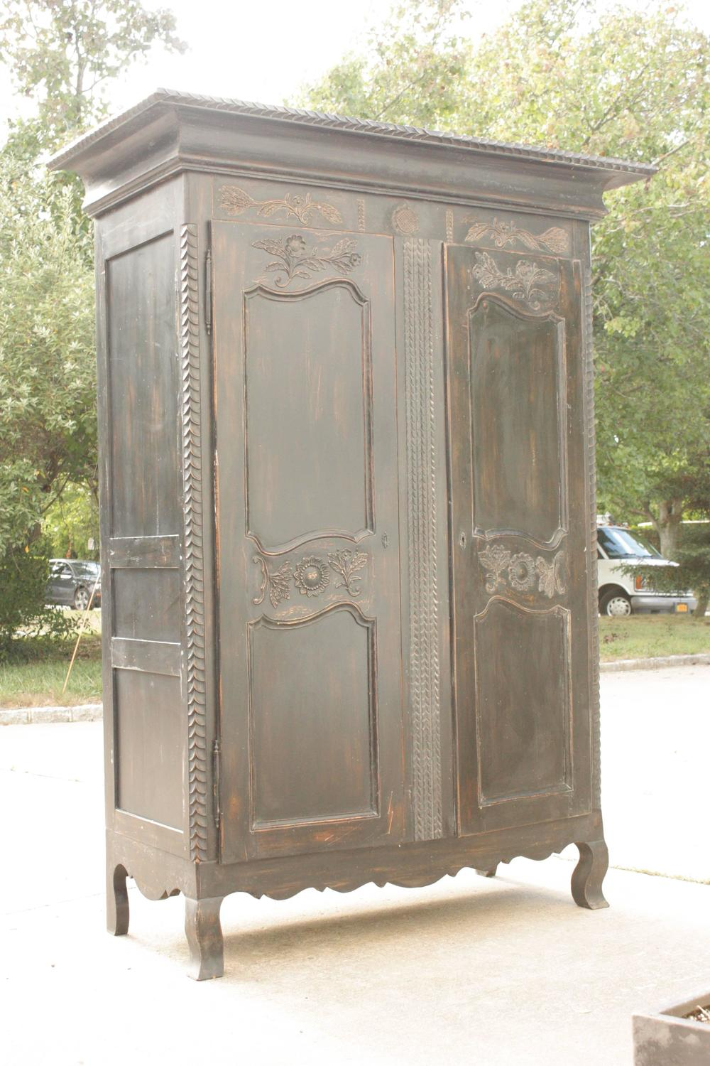 Distressed Wood Armoire 28 Images Vintage Cabinets Dressers And Antique Trunks Auction In