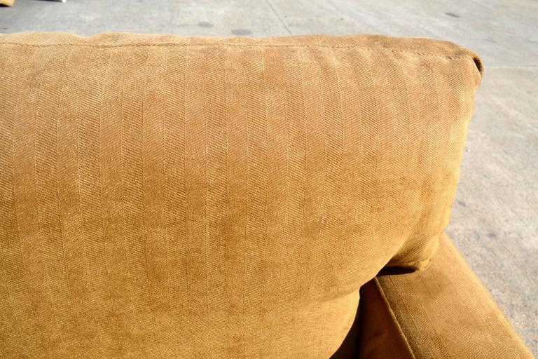 Nutmeg Suede Sectional For Sale 2