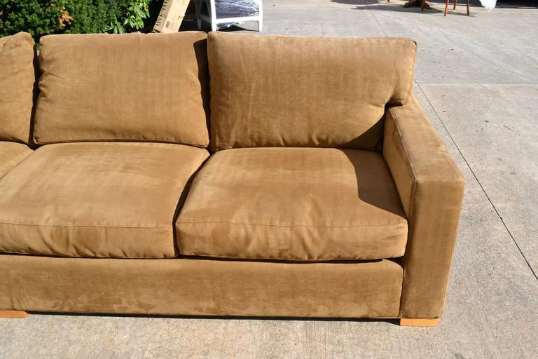 Nutmeg Suede Sectional For Sale 3