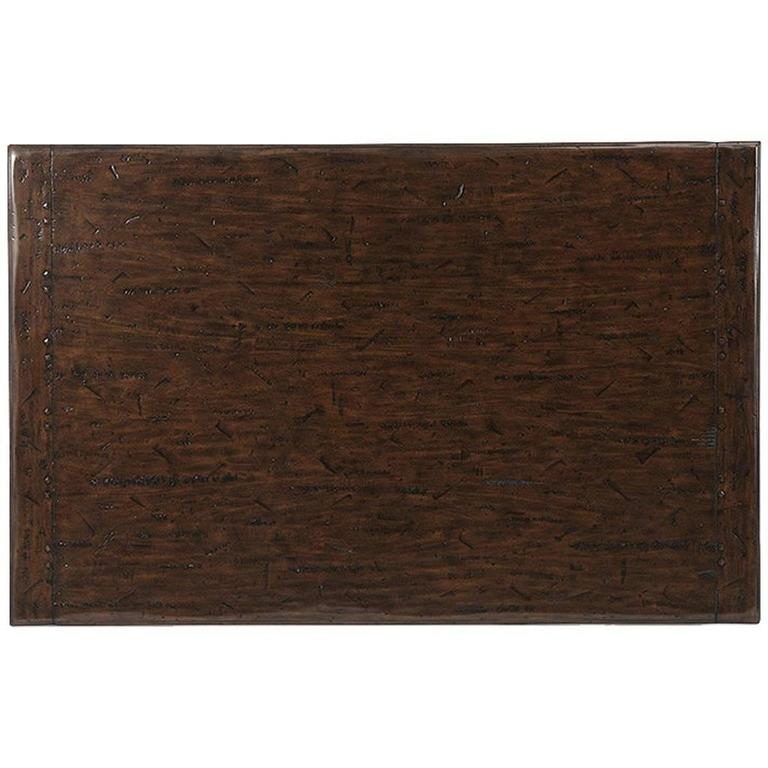 Theodore Alexander Italian Leather Coffee Table For Sale