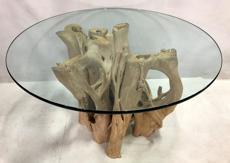 Cypress Tree Trunk Dining Table by Michael Taylor In Excellent Condition For Sale In San Leandro, CA