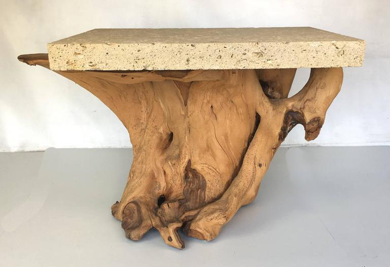 Pair of Iconic Fossil Stone Side Tables by Michael Taylor 6